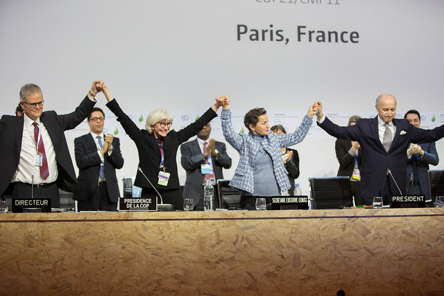 Signing the Paris Agreement