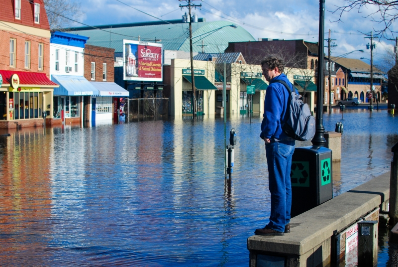 A street in Annapolis, Maryland flooded after heavy rainfall in 2010 (Photo: Chesapeake Bay Program)