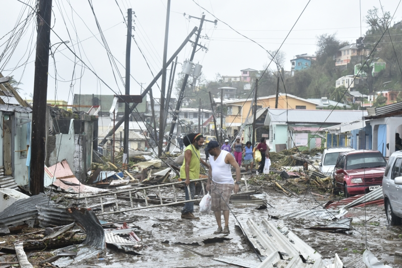 Destruction of the energy infrastructure on the island of Dominica, following Hurricane Maria (Photo: Wikimedia Commons)