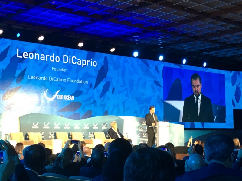 Leonardo DiCaprio at the third Our Ocean Conference