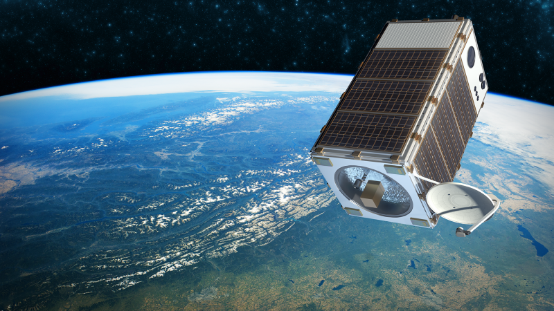 A digital rendering of EDF's MethaneSAT satellite (Photo: EDF)