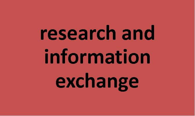 research and information exchange