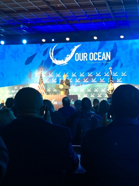 President Obama at the third Our Ocean Conference