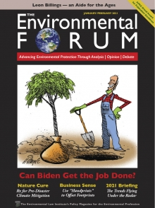 The Environmental Forum January-February 2021 cover