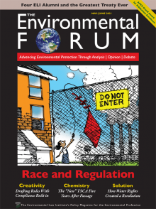 The Environmental Forum - May June 2021 issue cover