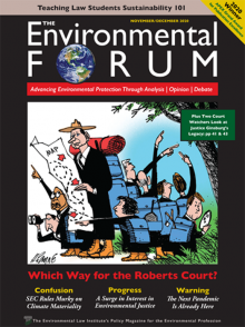 The Environmental Forum November-December 2020 issue cover