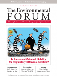 The Environmental Forum (May-June 2016)