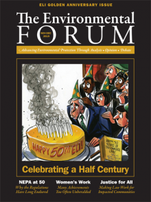 The Environmental Forum November-December 2019 issue cover
