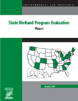 State Wetland Program Evaluation: Phase I