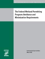 The Federal Wetland Permitting Program: Avoidance and Minimization Requirements