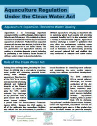 Aquaculture Regulation Under the Clean Water Act