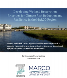 Developing Wetland Restoration Priorities for Climate Risk Reduction and Resilie