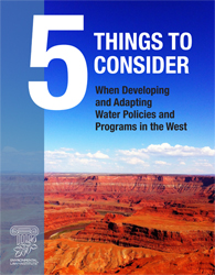 Five Things to Consider When Developing and Adapting Water Policies and Programs