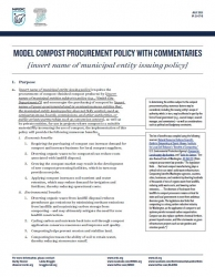 Model Compost Procurement Policy With Commentaries