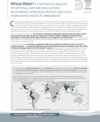 Whose Water? A Comparative Analysis of National Laws and Regulations Recognizing