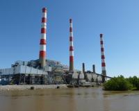 Factory smokestack