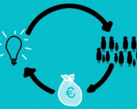 Crowdfunding is the strategy of raising funds from a large number of people (Pho