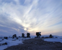 Inukshuks near Baffin Bay (Wikimedia Commons)