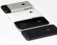 Four Generations of iPhone (Photo: Yutaka Tsutano)