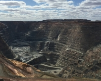 Open pit mining operation