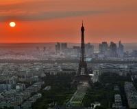 Paris at sunset