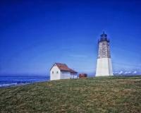 Point Judith Light at Narragansett Bay