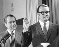 William Ruckelshaus is sworn in as administrator of the new Environmental Protec