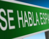 Spanish Spoken Here Sign