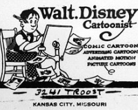Walt Disney business envelope, circa 1921