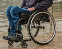 Wheelchair User Next to Water