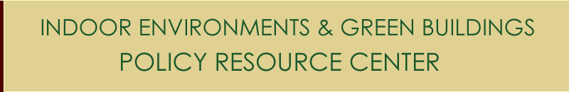 Indoor Environments Policy Resource Center banner