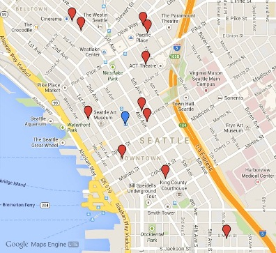 Maps of WBC 15 Hotels