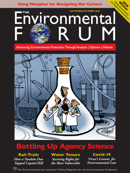 Cover of the September/October 2020 Environmental Forum