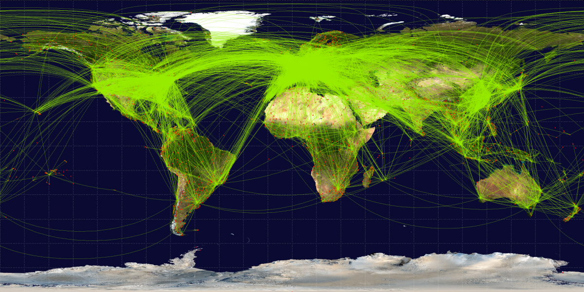 World airline route map, 2009, Jpatokal
